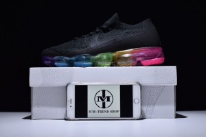 3c832bd48ef84 Nike W Air Vapormax Flyknit Black Concord Pink Blast Men's Running Shoes