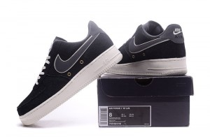 brand new 59780 93793 Nike Air Force 07 LV8 Crocodile Leather Black Dark Grey Men s Running Shoes  Sneakers