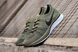 4661932da8b4 Nike Air Zoom Mariah Flyknit Racer Olive Green Black White Men s Running  Shoes