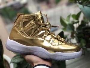a2b665c4f90 Nike Air Jordan Retro 11 rl gg BLACK GOLD Mens Athletic Basketball ...