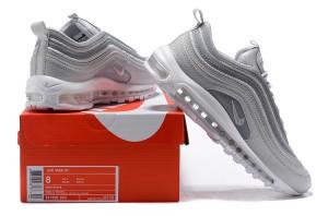 0106066dff Nike Air Max 97 UL '17 Silver Bullet White Snake Crocodile Grain Men's  Running Shoes