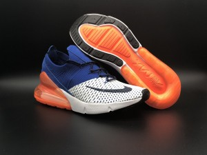 Nike Air Max 270 Flyknit White Royal Blue Men\u0027s Running Shoes