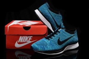 huge selection of 54bc7 a7f8a Nike Flyknit Racer Blue Lagoon Black Women s Men s Running Shoes