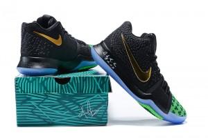 Nike Kyrie Irving 3 Whitetip Clover Black Green Gold Men s Basketball Shoes 1e2c2446e