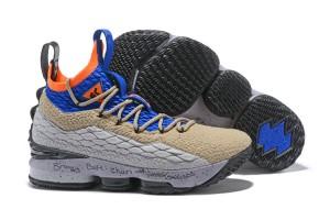 on sale ec089 c43a3 Nike Lebron XV 15 KSA ACG Mowabb PE 2018 Grey Blue Orange HOH Men s  Basketball Shoes