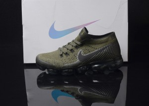 b70159daa178e Nike Air VaporMax Flyknit AIR 2018 MoonRock Olive Black Men s Running Shoes