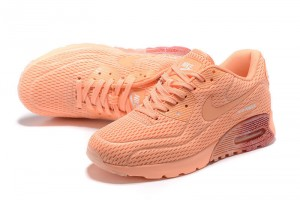 sports shoes a9600 5d4cd Nike Air Max 90 Ultra Breathe Orange Women s Running Shoes Sneakers