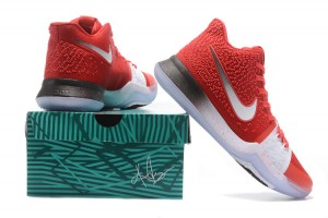 detailed look 5d392 966fb Nike Kyrie 3 Team Red White Men s Basketball Shoes
