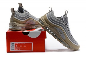 Free Shipping Nike Air Max 97 White Gold Pink Black 312641 024 Sneakers Women's Sport Running Shoes