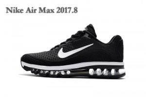 592f0a1b6e15 Nike Air Max 2017 Kpu Black White Men s Running Shoes 849560-313 ...