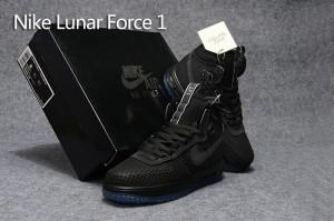 size 40 9e50e 3fd56 Nike Lunar Force 1 Duckboot KPU Triple Black Men s Casual Shoes Sneakers