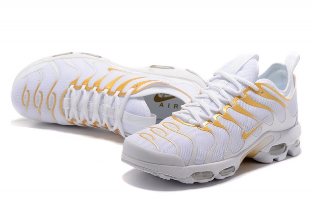 half off 0245f 8be66 Nike Air Max Plus Tn Ultra White Gold 898015 013 Men's Women's Running  Shoes 898015-013