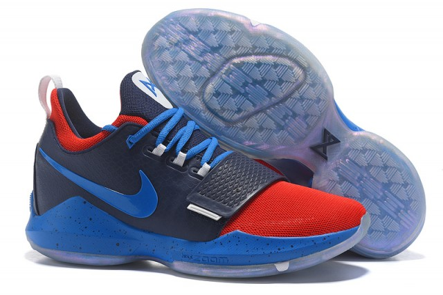 1759171eaaf3 Paul George Nike PG 1 Navy Blue Red Black Men s Basketball Shoes ...