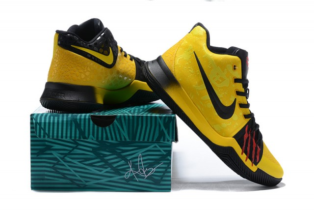 save off 9c427 db129 Nike Kyrie 3 Mamba Mentality Bruce Lee Tour Yellow Black Men's Basketball  Shoes NIKE-ST001485
