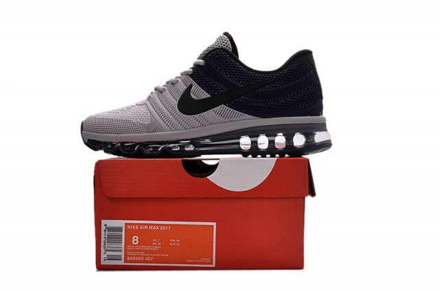 93e6635c15c7af ... aliexpress nike air max 2017 kpu grey navy mens running shoes 849560  407 withthesale c2037 3200e