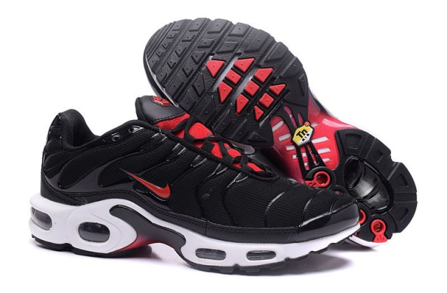 uk availability 87557 4c3a6 Nike Air Max Plus Tn Black Gym Red Red White Bred 604133 096 Men's Running  Shoes 604133-096