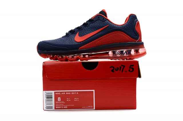 super popular 8efb9 4eb43 Nike Air Max 2017. 5 KPU Navy Blue Red Men's Running Shoes 898013-460 |  WithTheSale.com