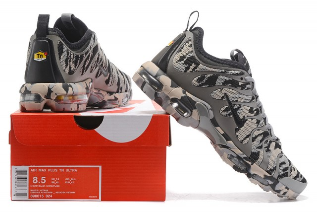 dc26c0a89ac Nike Air Max Plus Tn Ultra Wolf Grey Camouflage 898015 024 Men s Women s  Running Shoes 898015-024