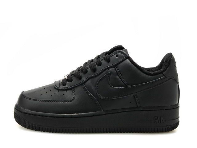 Nike Wmns Air Force 1 07 Low Classic Blackout Women's Men's Casual Shoes Sneakers 315122 001