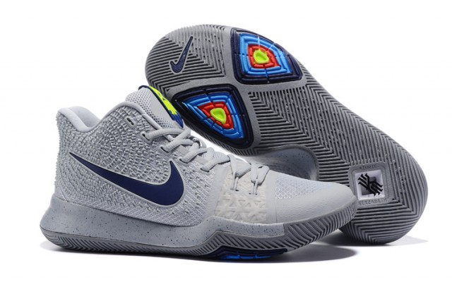 low priced 3480d 4802b Nike Kyrie 3 Cool Grey Pure Polarized Blue Midnight Navy Men s Basketball  Shoes