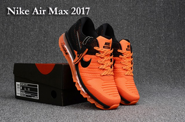7a0ea9b5b1d Nike Air Max 2017 KPU Orange Black Men s Running Shoes 849559--003 ...
