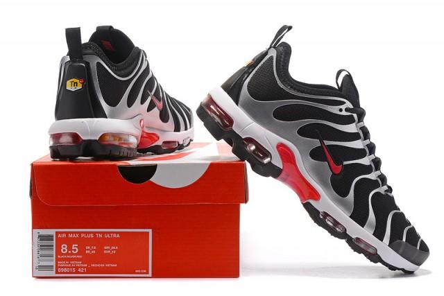 8064c9a8e7d Nike Air Max Plus Tn Ultra Black White Red 898015 421 Men s Women s Running  Shoes 898015-421