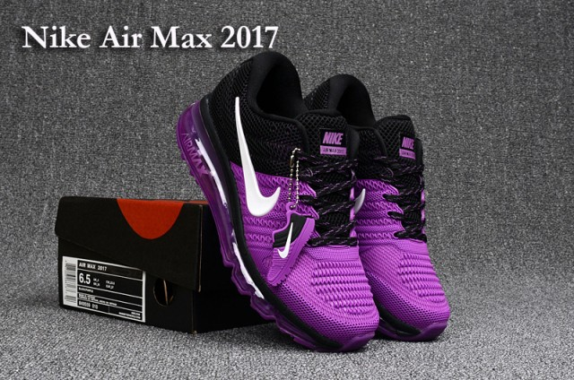 Nike Air Max 2017 KPU Dark Purple Black White 849560 505 Women's Running Shoes Walking Sneakers
