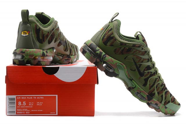 low priced ed14f 49c3e ... france nike air max plus tn ultra army green camouflage 898015 022 mens  womens running shoes