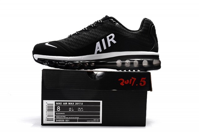 ac6939ca798 Nike Air Max 2017. 5 KPU Black White Women s Men s Running Shoes NIKE-ST000806