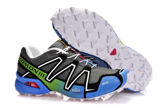 3564f87839c1 Salomon Speedcross 3 Light Grey Blue Green Black Mens Trail Running Shoes  NIKE-ST002092