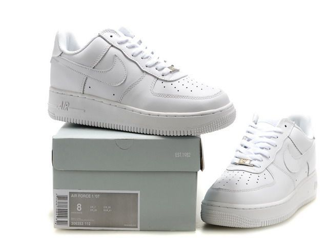 more photos 7c5ed ae8cb Nike Air Force 1 AF1 07 Low Classi White Women's Men's Casual Shoes  Sneakers 315122-111