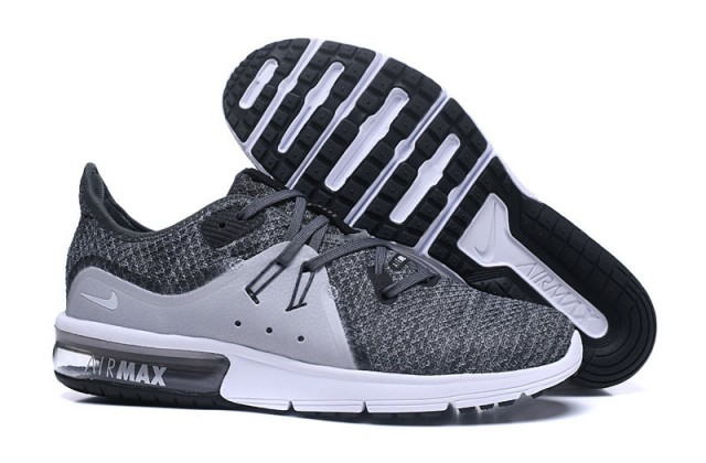 d1107ea5c2 Nike Air Max Sequent Wolf Grey White Black Men's Running Shoes ...