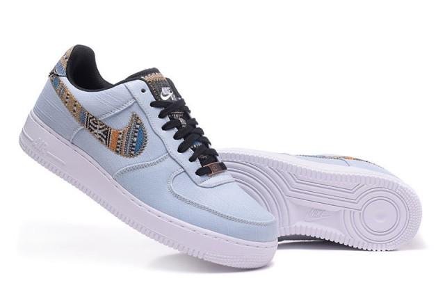 nike air force 1 basso afro  punk denim armeria blu uomini scarpe da corsa
