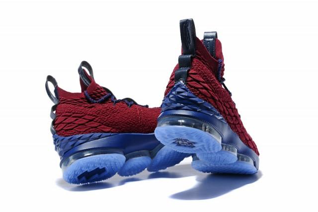 cheap for discount eec83 c49bf Nike Lebron XV 15 EP Burgundy Blue Men's Basketball Shoes NIKE-ST001779