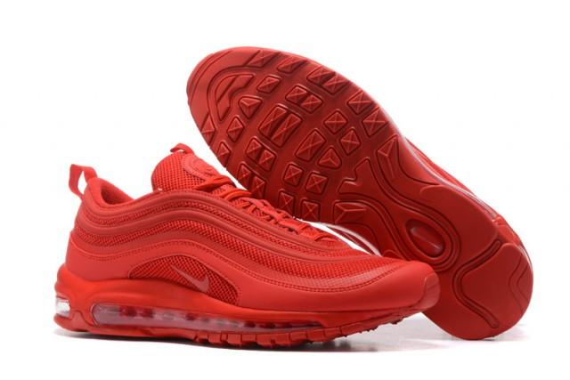 meet 43a80 13cd2 Nike Air Max 97 OG QS All Red Men's Running Shoes 884421-006