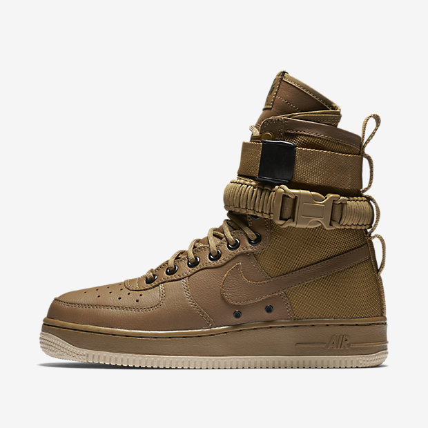uk availability 7720b a3277 Nike Special Forces Air Force 1 Boots Golden Beige Golden Beige Linen Men s  Women s Running Shoes Sneakers 857872-200   WithTheSale.com