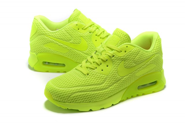 pretty nice 4f064 d809a Nike Air Max 90 Ultra Breathe Ghost Green Electric Green Men s Women s  Running Shoes Sneakers