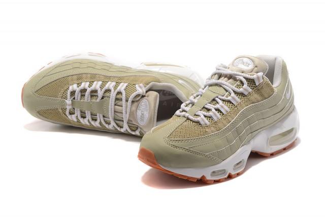 low priced 6b1a0 923cf Nike Air Max 95 Essential Beige White Gum 807443 083 Womens Running Shoes