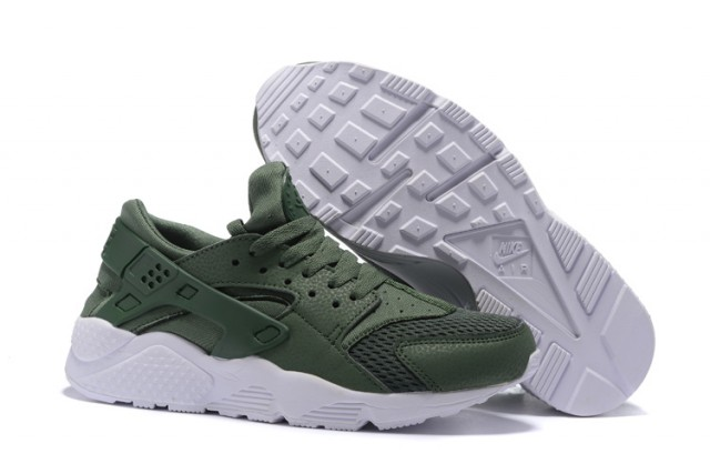 separation shoes d6676 c32f8 Nike Air Huarache Army Green White Men's Women's Casual Shoes NIKE-ST001372