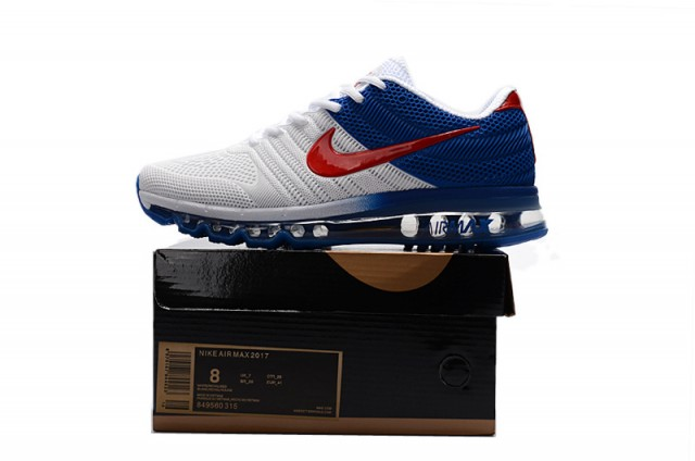 Nike Air Max 2017 Kpu White Blue Red Men's Running Shoes 849560 315