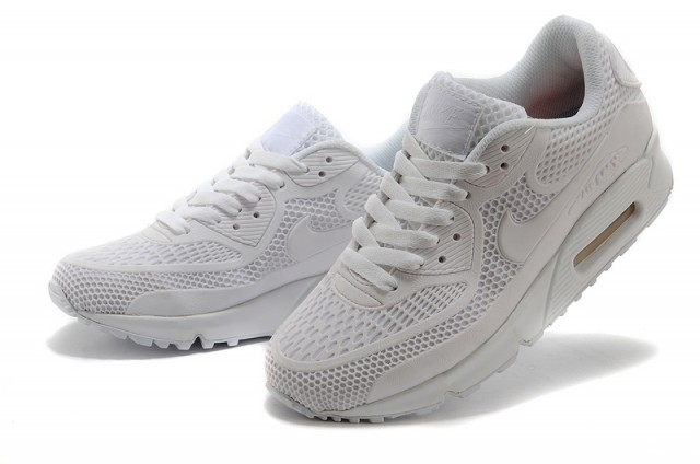 low priced e5c77 83966 Nike Air Max 90 KPU All White Men's Women's Running Shoes Sneakers  NIKE-ST000259