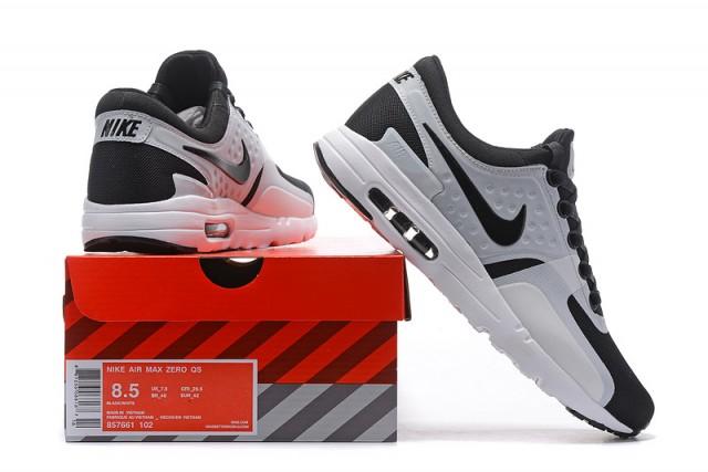 Nike Air Max Zero Qs Blanco Negro 857661 Hombres 102 Zapatos Corrientes De Los Hombres 857661 f2fad4