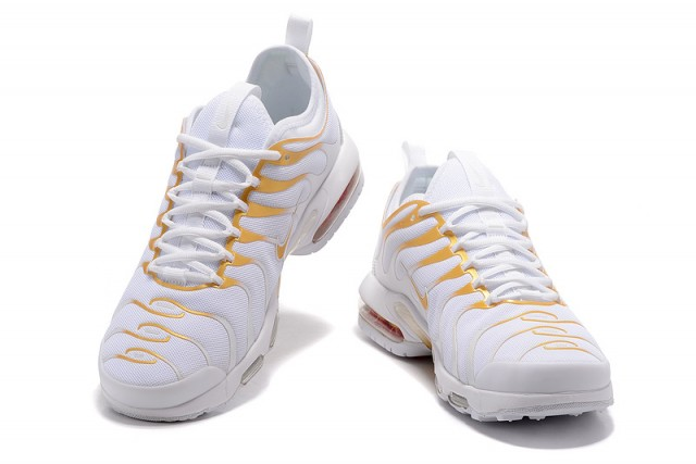 buy online 2b295 085a1 Nike Air Max Plus Tn Ultra White Gold 898015 013 Men s Women s Running Shoes