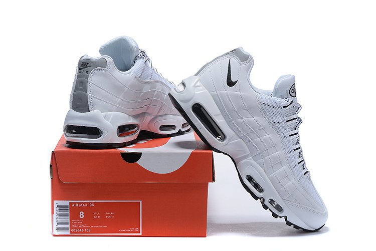 finest selection b6de7 32285 Nike Air Max 95 White Gym Blue Anthracite Black 609048 109 Men s ...