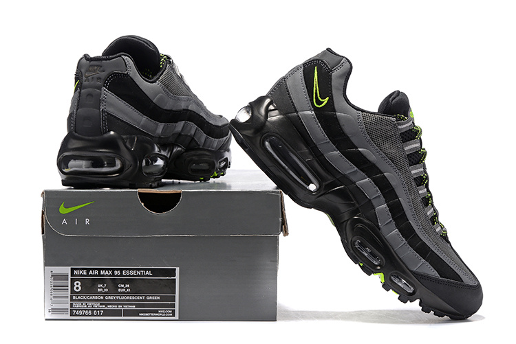 37eb10e260f9 Nike Air Max 95 Essential Black Wolf Grey 749766 017 Men s Running ...