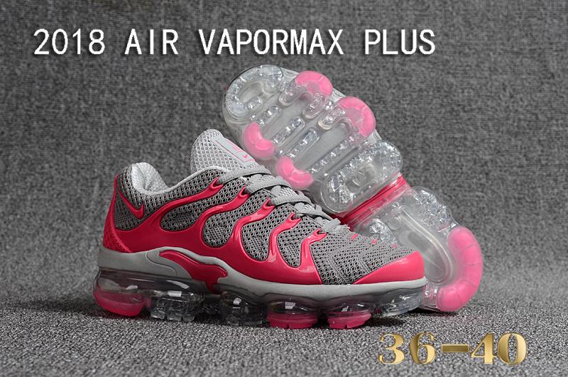 fc05f608274 Nike Air Vapormax Plus KPU TN + 2018 Cool Grey Pink Women s Running ...