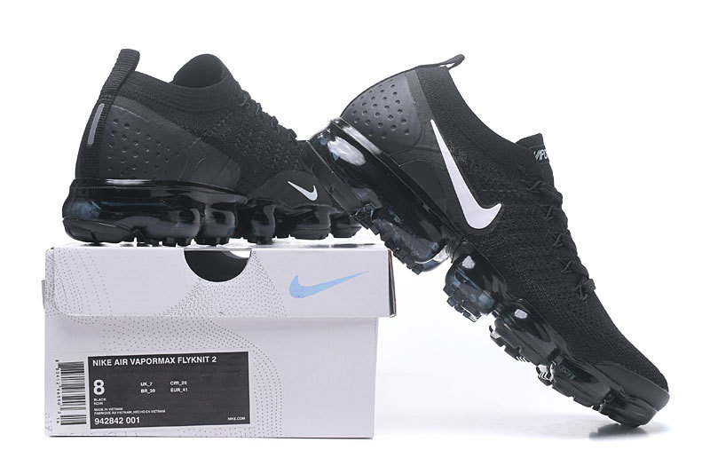 finest selection bb30f 2501e Nike Vapormax Flyknit 2. 0 Black White Women's Men's Running Shoes  942842-001