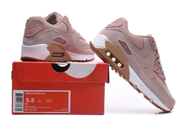 newest d302c 67744 Nike Air Max 90 SE Particle Pink Gum Light Brown White ...