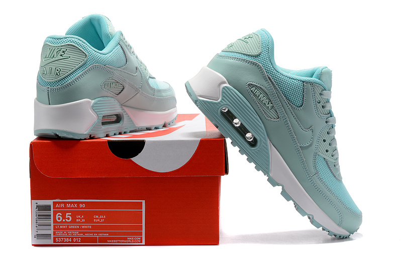 537384 Air Nike Green Women's 90 Running Sneakers Mint White 012 Max Shoes mNnw8v0