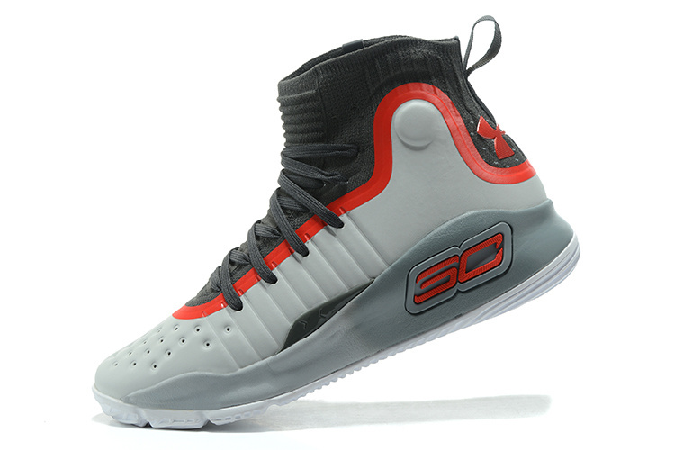 8acb04f27e6e Under Armour Stephen Curry 4 Gray Black Red Men s Basketball Shoes ...